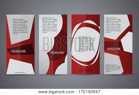Set Vertical Banners Red Background05