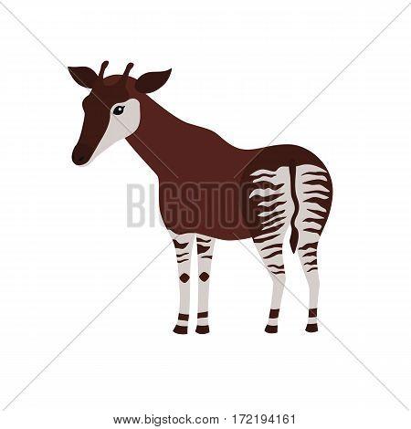 okapi cartoon isolated on white background. vector illustration for children