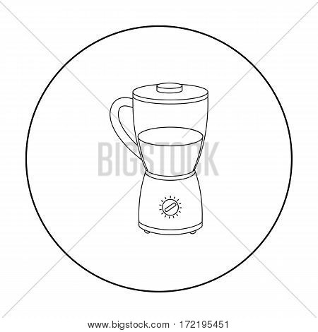 Blender icon in outline style isolated on white background. Household appliance symbol vector illustration.