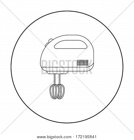 Mixer icon in outline style isolated on white background. Household appliance symbol vector illustration.