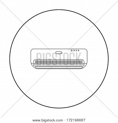 Air conditioner icon in outline style isolated on white background. Hotel symbol vector illustration.