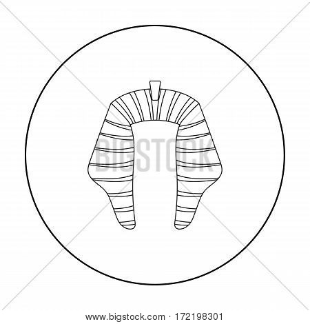 Nemesi con in outline style isolated on white background. Hats symbol vector illustration.