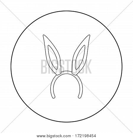 Bunny headband icon in outline style isolated on white background. Hats symbol vector illustration.