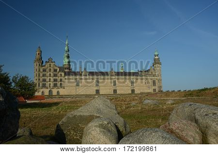 An external view of Kronborg castle in Helsingor