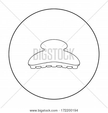 Comb icon in outline style isolated on white background. Hairdressery symbol vector illustration.
