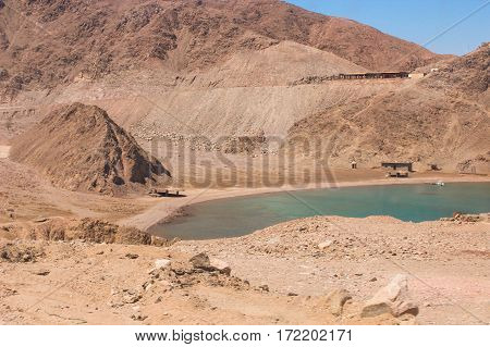 Sea & Mountain View Of The Fjord Bay In Taba, Egypt / The Amazing View Of The Sea & Mountain Of The