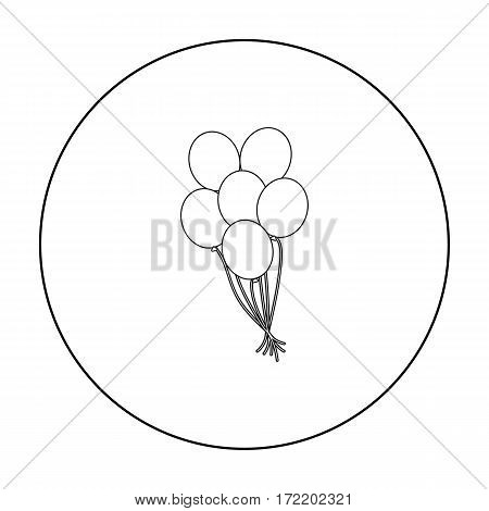 Balloon icon outline. Single gay icon from the big minority, homosexual outline.
