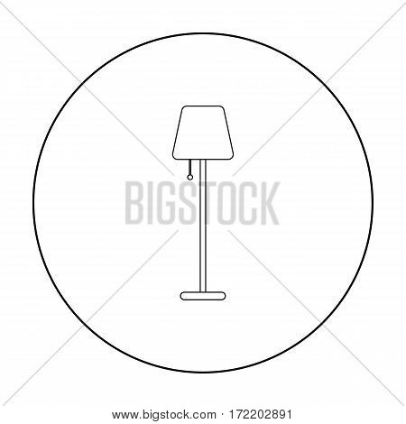 Lamp icon of vector illustration for web and mobile design