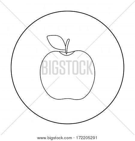 Apple icon outline. Singe fruit icon from the food outline.