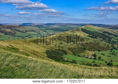 Rolling english countryside at Peak District National Park