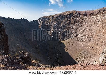 Interior of the Vesuvius crater in Italy