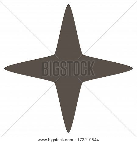 Sparkle Star flat icon. Vector grey symbol. Pictograph is isolated on a white background. Trendy flat style illustration for web site design logo ads apps user interface.