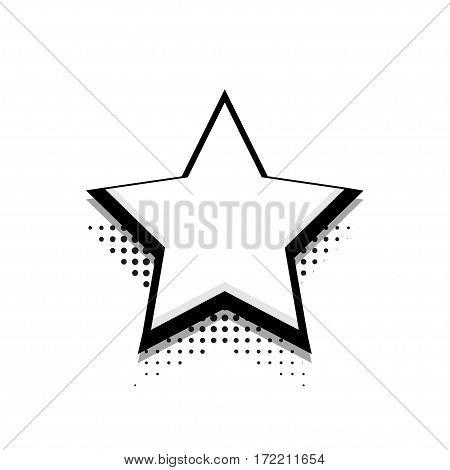 Vector modern halftone star icon on white background