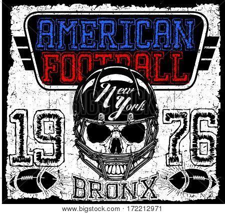 American football Vintage vector print for boy sportswear in custom