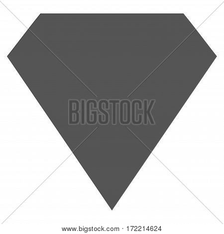 Diamond flat icon. Vector gray symbol. Pictogram is isolated on a white background. Trendy flat style illustration for web site design logo ads apps user interface.