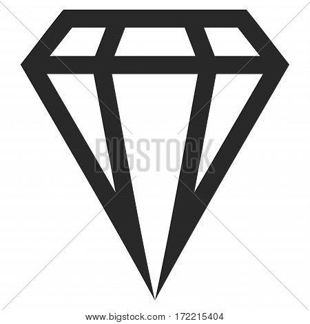 Gem flat icon. Vector gray symbol. Pictogram is isolated on a white background. Trendy flat style illustration for web site design logo ads apps user interface.