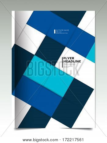 Brochure cover. Annual report cover. Flyer cover. Leaflet cover. Presentation cover. Cover text template layout. Vector.