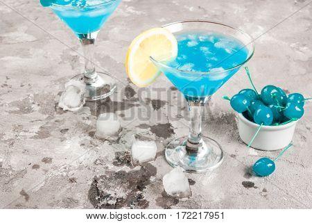 Blue Lagoon Or Blue Curacao