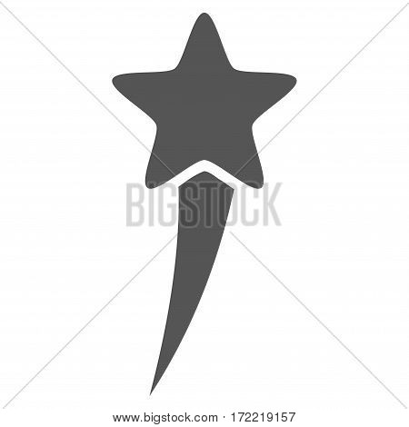 Starting Star flat icon. Vector gray symbol. Pictogram is isolated on a white background. Trendy flat style illustration for web site design logo ads apps user interface.