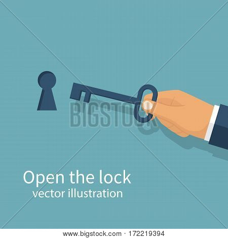 Key In Hand Holds Man.