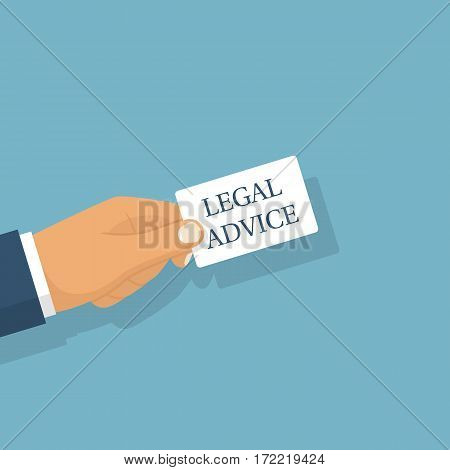 Legal Advice. Vector