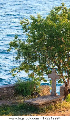 The Grave Of St. John At Kaneo, Ohrid.
