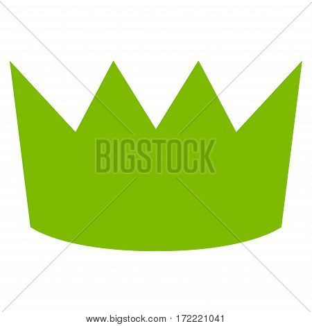 Crown flat icon. Vector light green symbol. Pictogram is isolated on a white background. Trendy flat style illustration for web site design logo ads apps user interface.