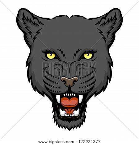 A Panther head. This is vector illustration ideal for a mascot and tattoo or T-shirt graphic.