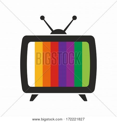 TV, no signal. Vector icon isolated on white background.