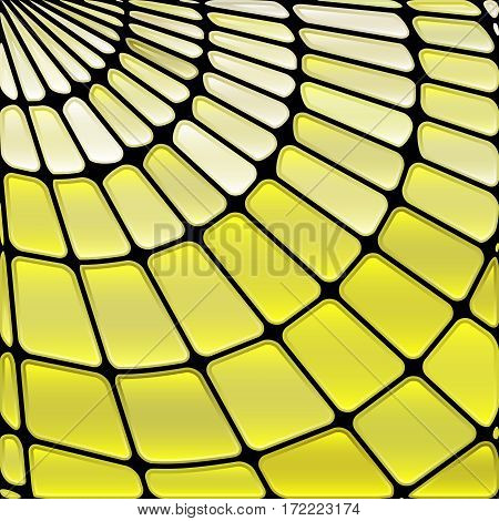 abstract vector stained-glass mosaic background - pale yellow