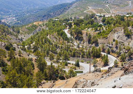 Troodos Mountain Landscape, Cyprus