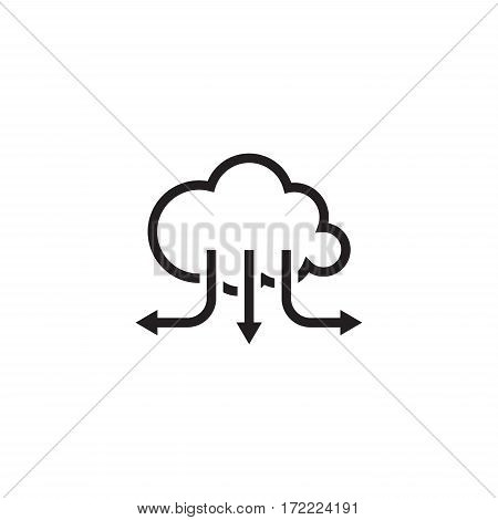 Accelerate Your Cloud Icon. Business Concept. Flat Design Isolated Illustration.