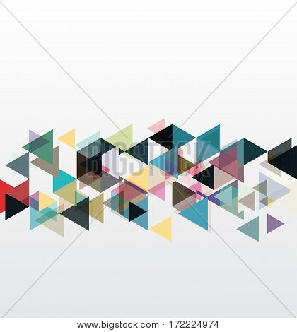 Abstract geometric backgrounds.Colored triangles design element vector eps10
