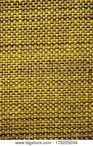 Yellow fabric texture. Yellow cloth background. Close up view of yellow fabric texture and background. Abstract background and texture for designers. Yellow texture.