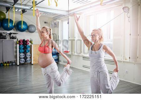 Yoga Pose On One Leg