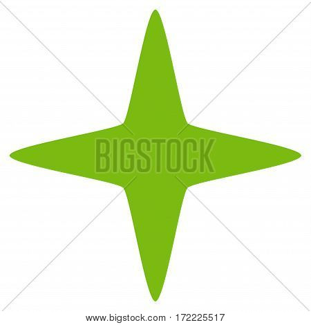 Sparkle Star flat icon. Vector light green symbol. Pictogram is isolated on a white background. Trendy flat style illustration for web site design logo ads apps user interface.