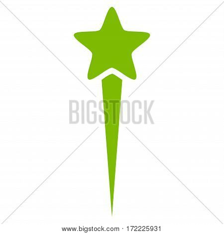 Starting Star flat icon. Vector light green symbol. Pictogram is isolated on a white background. Trendy flat style illustration for web site design logo ads apps user interface.