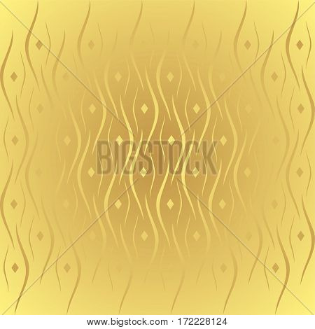 Vector gold abstract geometric banner with circle gradient
