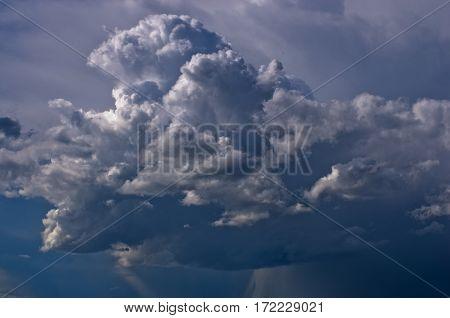 Picturesque dark rainy clouds in Belgrade, Serbia