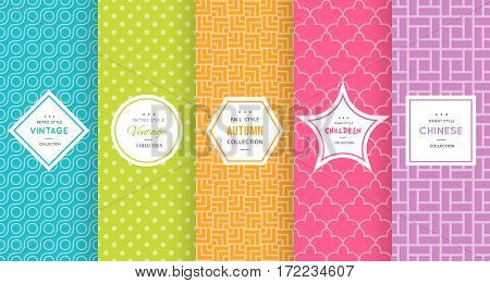 Cute bright seamless pattern background. Vector illustration bright design. Abstract geometric frame.