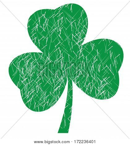 vector illustration of a grunge shamrock for St. Patrick day irish symbol