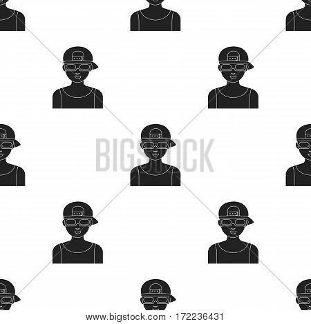 Cinemaddict icon in black style isolated on white background. Films and cinema pattern vector illustration.