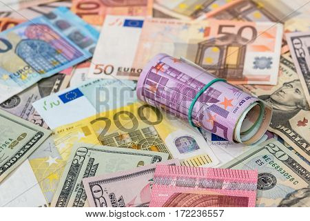 different dollars and euros for background and texture.