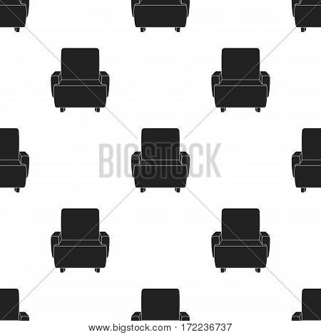 Cinema armchair icon in black style isolated on white background. Films and cinema pattern vector illustration.