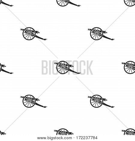 Cannon icon in black style isolated on white background. Museum pattern vector illustration.