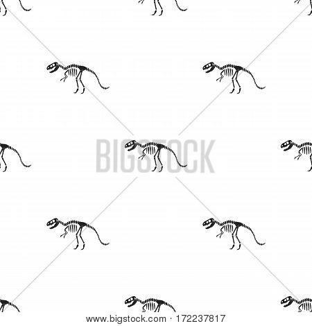 Tyrannosaurus rex icon in black style isolated on white background. Museum pattern vector illustration.