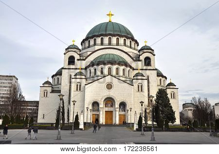 BELGRADE/ SERBIA - DECEMBER 27. Church of Saint Sava on December 27, 2013 in Belgrade, Serbia.