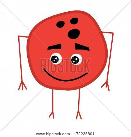 Cute Bowling Ball Cartoon Character.