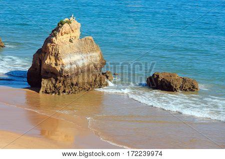 Praia Dos Tres Castelos, Algarve, Portugal.