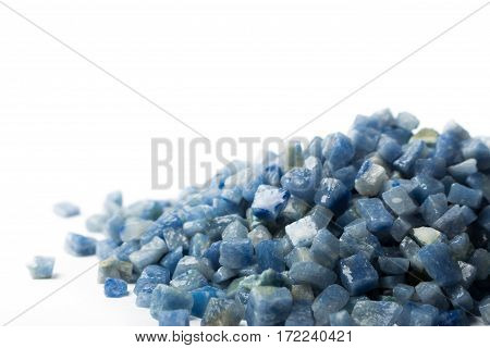 azul boquira granite, crushed granite blue on a white background